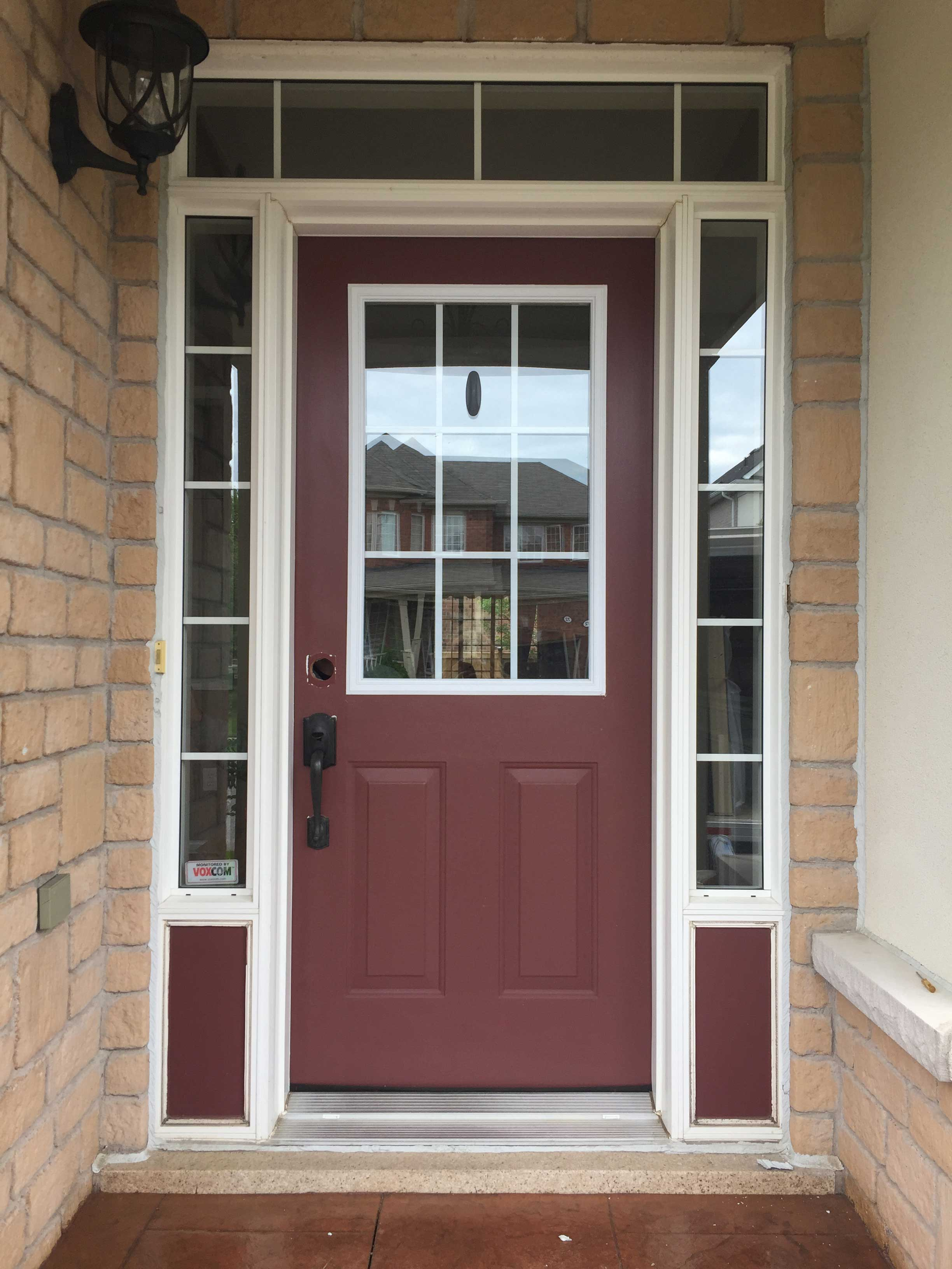Front Door Installation Before